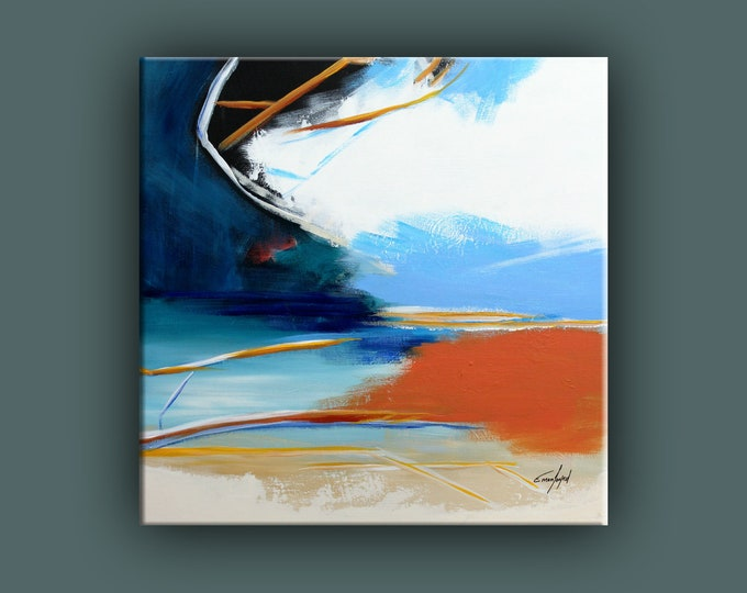 """Original Abstract Painting, Contemporary Art, Acrylic Painting, Square Fine Art, Abstract paining 24""""x24"""" Ready to Hang"""