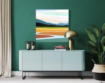 "Original Painting, Contemporary Art, Acrylic Painting, Abstract Painting, Landscape Painting, 36""x36"" Ready to Hang"