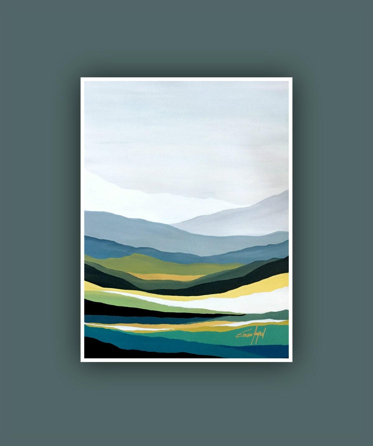 Original Painting Contemporary Art Mountain Painting