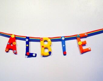 Felt letter/Felt letters/Felt garland/Felt banner/Felt name banner/Nursery letters/Personalised bunting/Hanging wall letters/Custom sign.