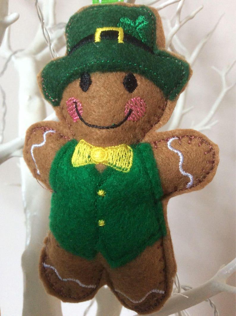 St Patrick/'s day gift ornament. Irish dancer gingerbread Christmas decoration