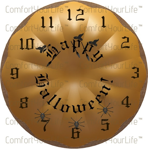 graphic regarding Clock Face Printable named Delighted Halloween Clock Experience Pumpkin Printable Clock Confront Electronic Picture Halloween Clock Facial area Prompt Down load. Downloadable