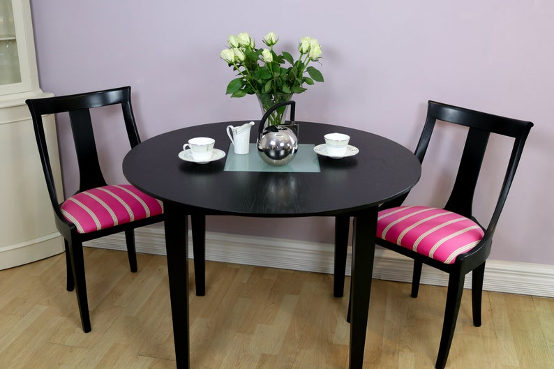 Black Painted Metro Chairs Dining Room