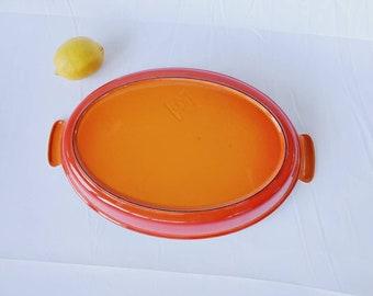 VINTAGE LE CREUSET OVAL AU GRATIN ROASTING BAKING DISH 20cm CERISE RED