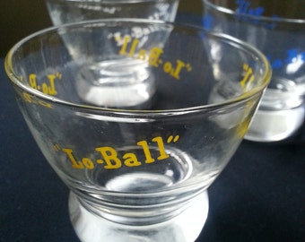 Set of 3 Lo-Ball Cocktail Glasses Eva Zeisel Mid Century Prestige Federal Glass