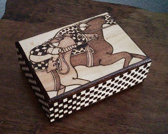 Jockey box playing card box