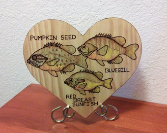 Fish love wall plaque
