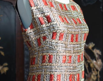 Shimmering 60's Column Party Dress