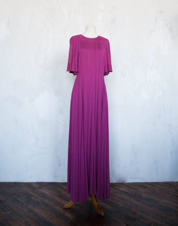 Jean Muir Pleated Gown