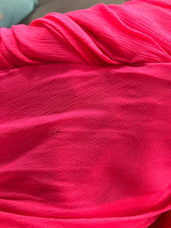 1950s Dress | Lovely 50s Pink Chiffon Dress with … - image 10