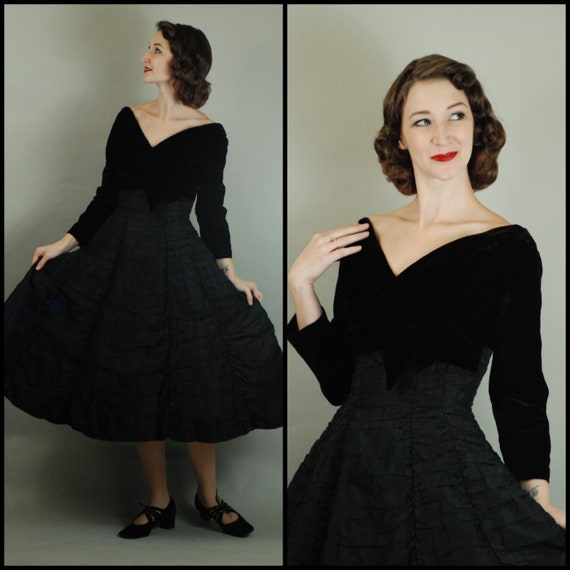 1950s Dress | Glorious 1950s Suzy Perette Ruched E
