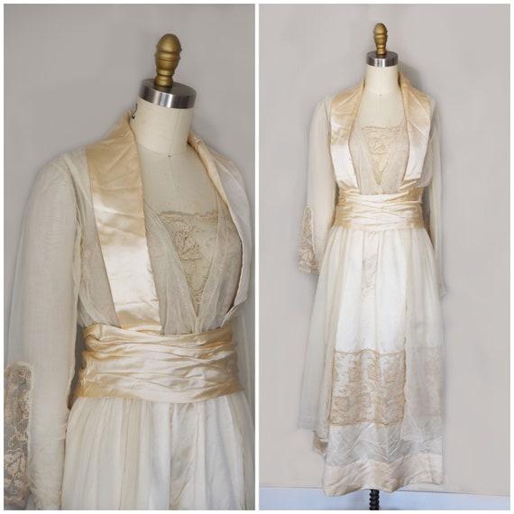 1910s Wedding Dress | Gorgeous Edwardian Wedding D