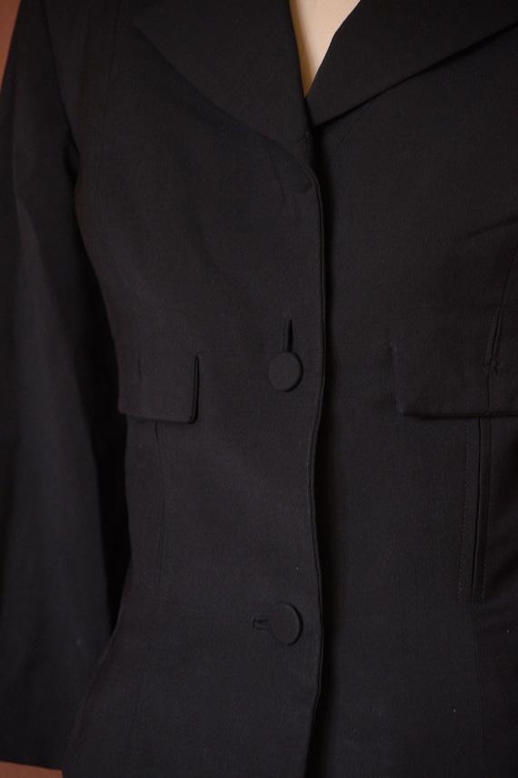 SALE - 1940s Suit | Smart 40s Black Suit with Cro… - image 5