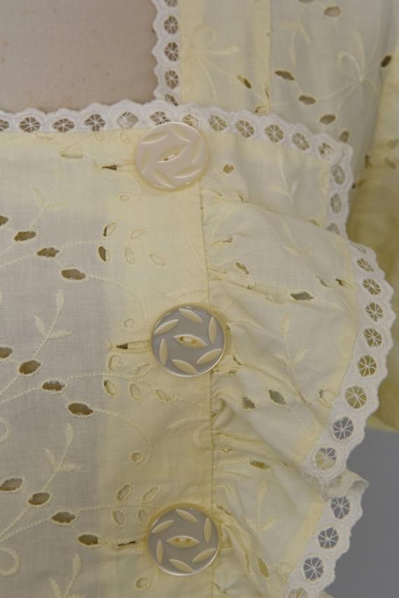 1930s Dress | Crisp 30s Cotton Eyelet Dress with … - image 5