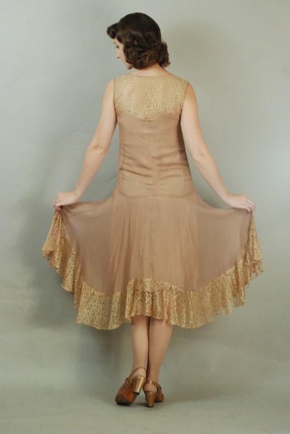 1920s Dress | Gorgeous 20s Silk Chiffon Dress wit… - image 9