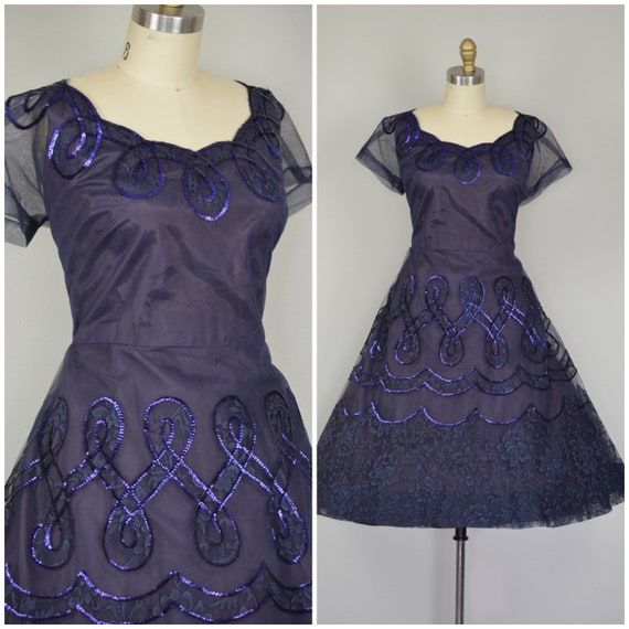 1950s Dress | Fantastic 50s Party Dress with Tulle