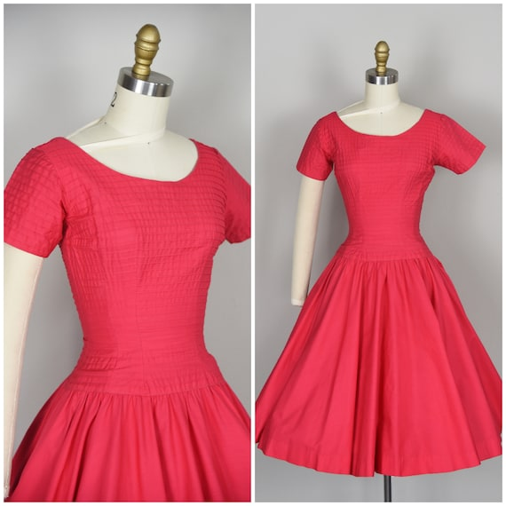 1950s Dress | Lovely 50s Anne Fogarty Coral Pink D