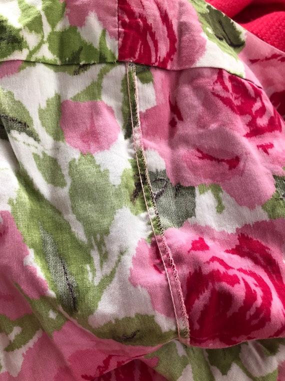 1950s Dress | Lovely 1950s Cotton Rose Print Dres… - image 8