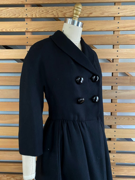 1950s Coat | Wonderful 50s Wool Princess Coat wit… - image 6