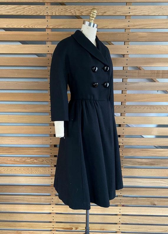 1950s Coat | Wonderful 50s Wool Princess Coat wit… - image 5