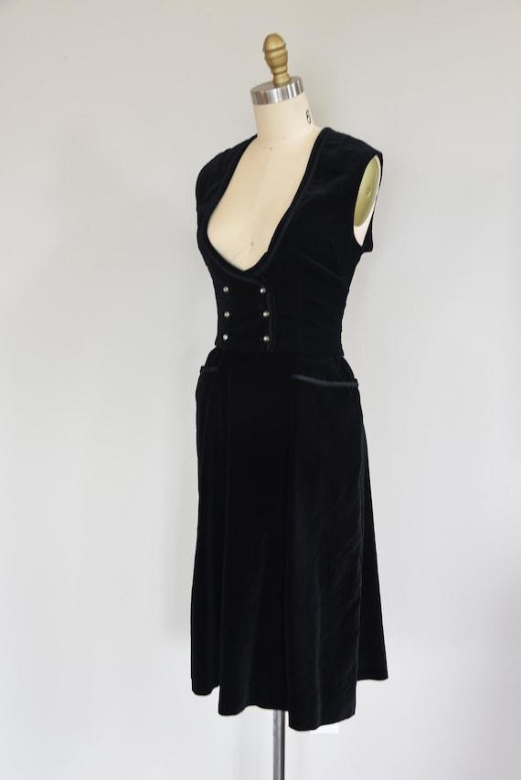 1950s Set   Charming 50s Velveteen Skirt and Vest… - image 5
