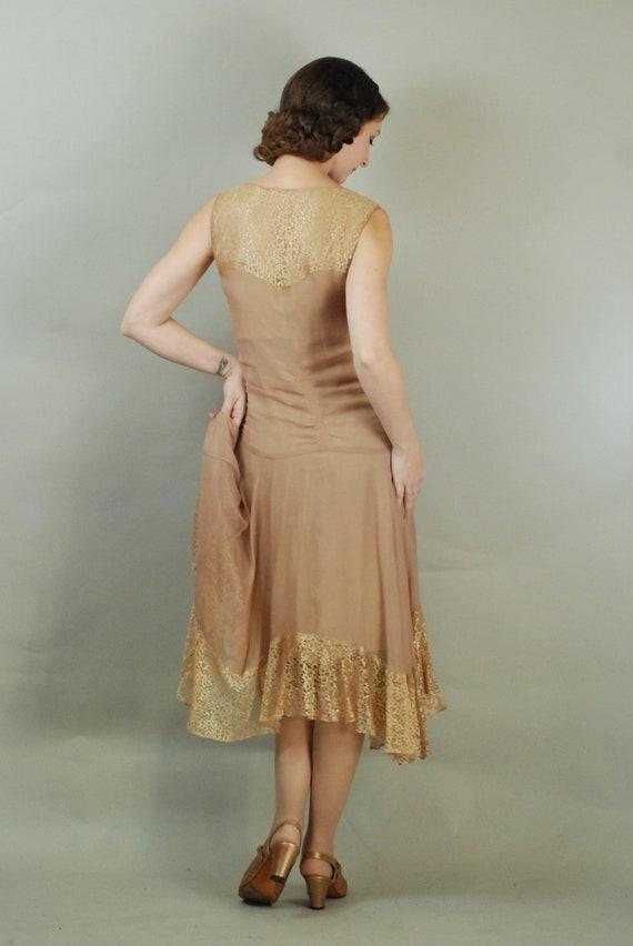 1920s Dress | Gorgeous 20s Silk Chiffon Dress wit… - image 10