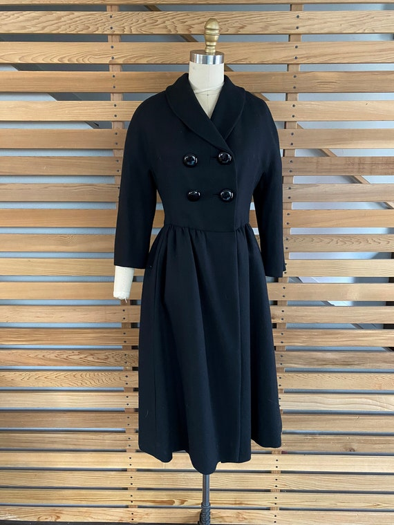 1950s Coat | Wonderful 50s Wool Princess Coat wit… - image 2
