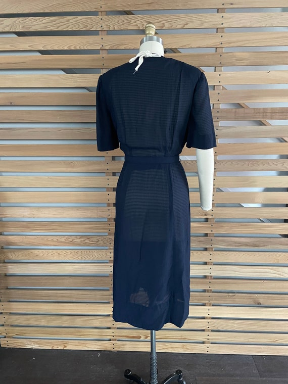 1940s Dress   Lovely 40s Rayon Sheer Dress with L… - image 7