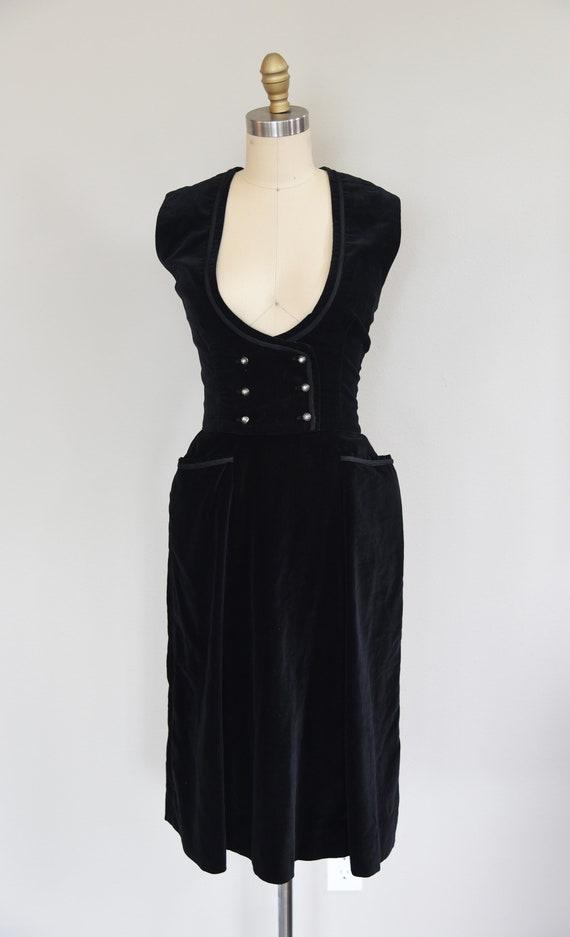 1950s Set   Charming 50s Velveteen Skirt and Vest… - image 2