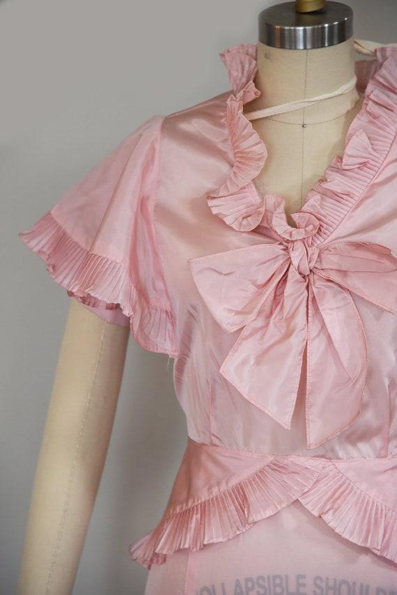 1930s Dress | Precious 1930s Acetate Pink Dress w… - image 4