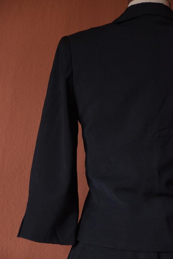 SALE - 1940s Suit | Smart 40s Black Suit with Cro… - image 9