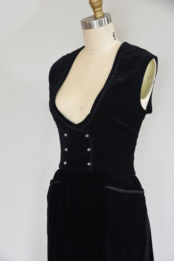 1950s Set   Charming 50s Velveteen Skirt and Vest… - image 6