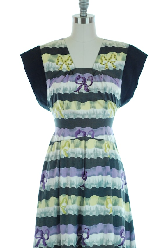 SALE - 1940s Dress | 1940s Evening Dress with Bea… - image 10