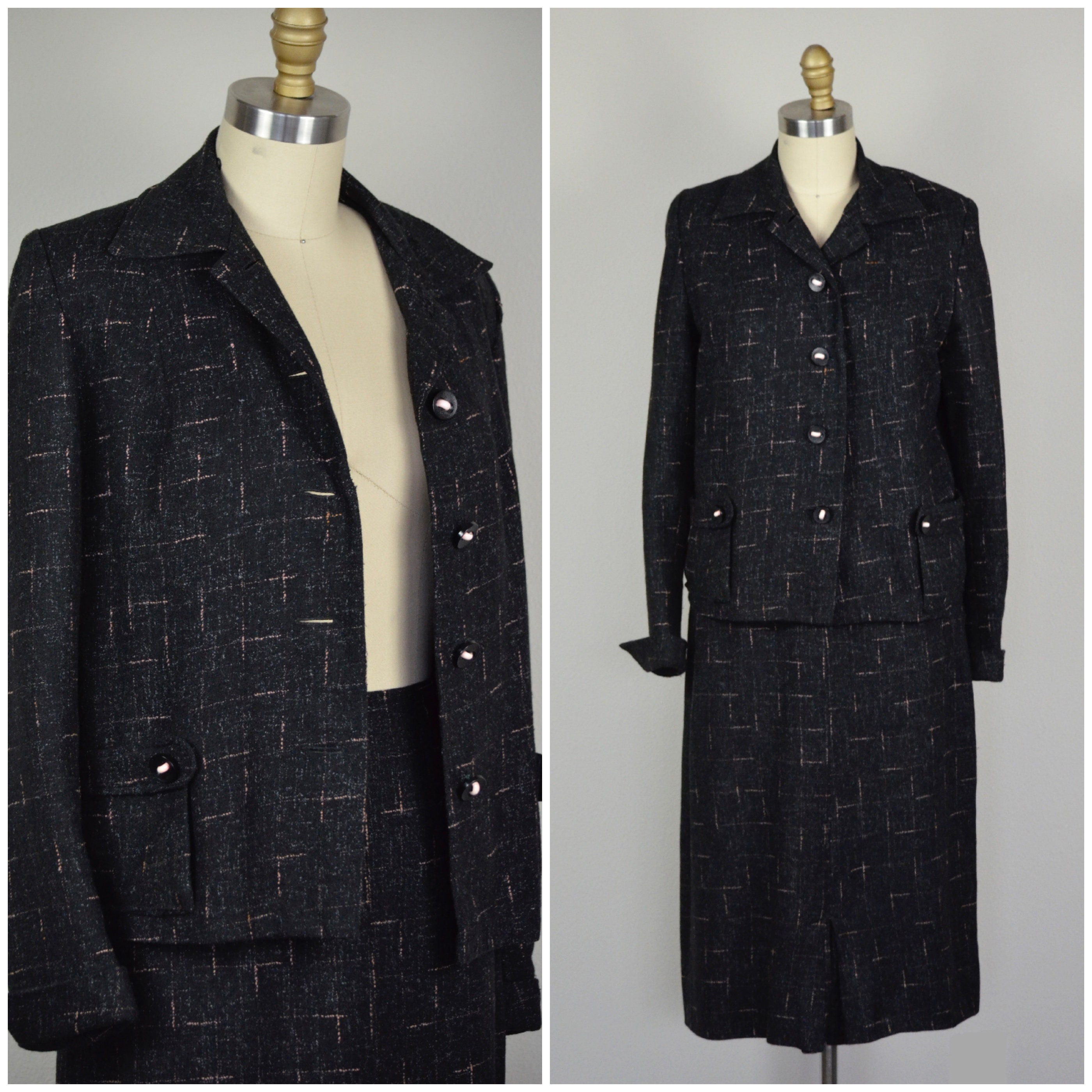 1950s Mens Suits & Sport Coats | 50s Suits & Blazers 1950S Suit  Unique 50S Rockabilly Made From Mens Rock  Roll Suiting - Size Small $20.00 AT vintagedancer.com