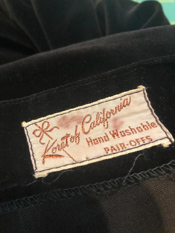 1950s Set   Charming 50s Velveteen Skirt and Vest… - image 8