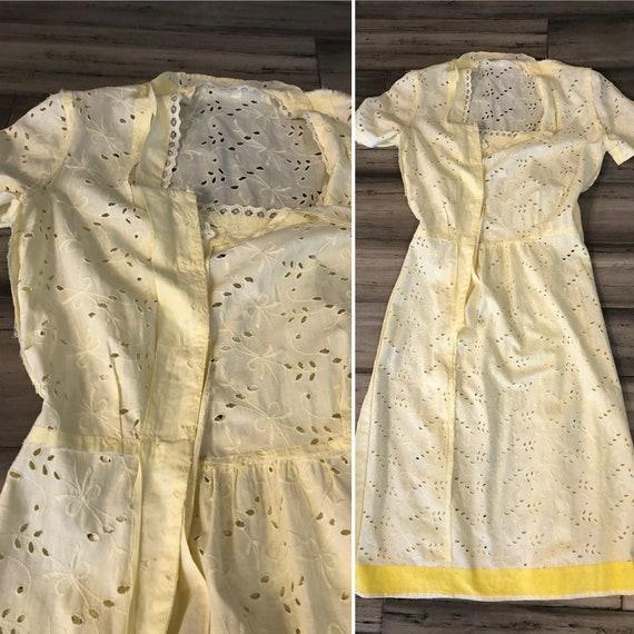1930s Dress | Crisp 30s Cotton Eyelet Dress with … - image 10