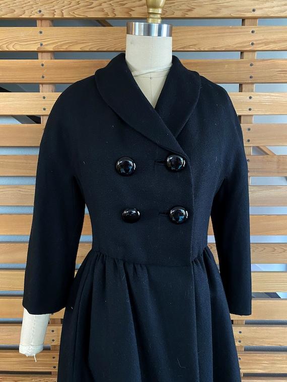 1950s Coat | Wonderful 50s Wool Princess Coat wit… - image 3