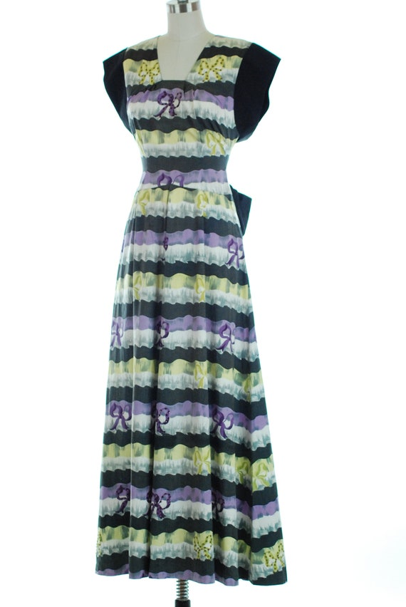 SALE - 1940s Dress | 1940s Evening Dress with Bea… - image 4