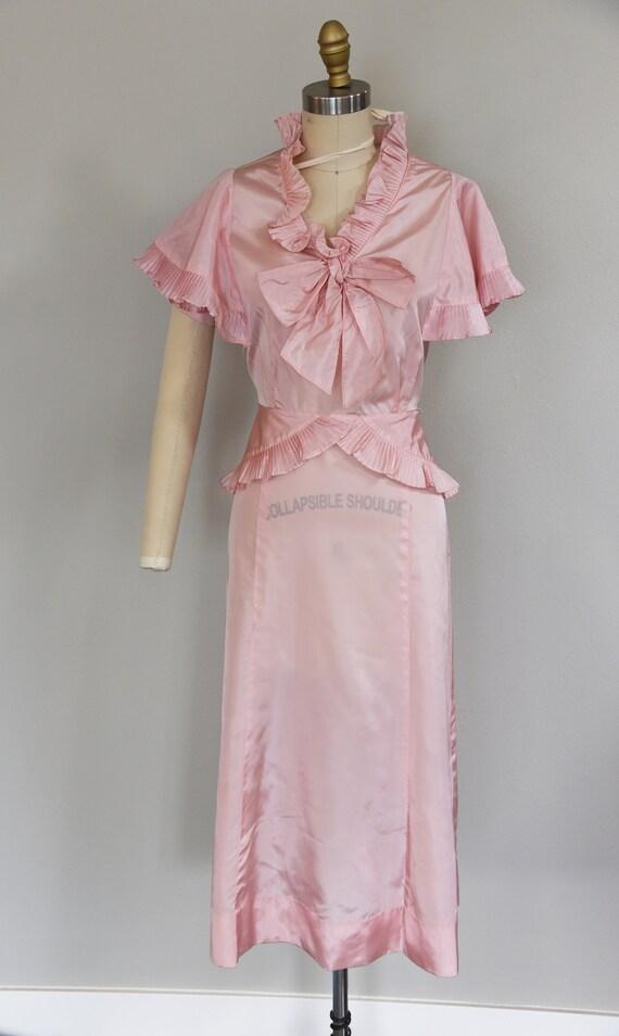 1930s Dress | Precious 1930s Acetate Pink Dress w… - image 2