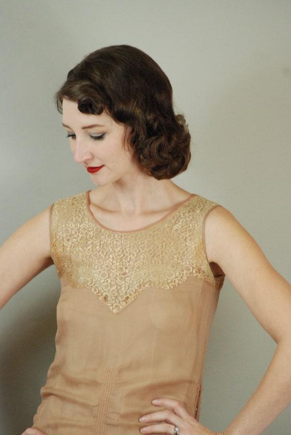 1920s Dress | Gorgeous 20s Silk Chiffon Dress wit… - image 8