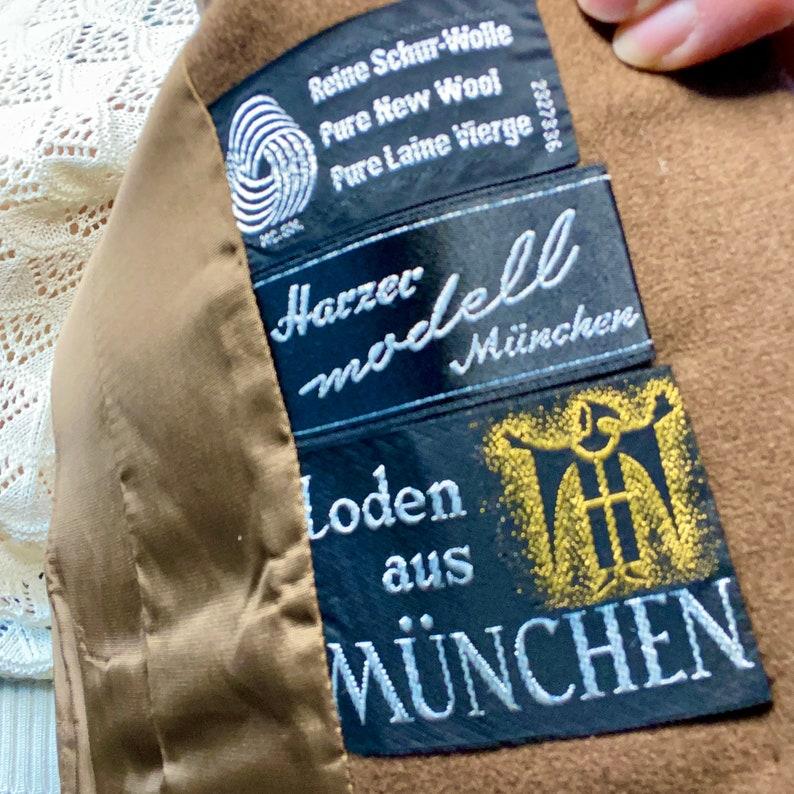 Vintage 1970s 1980s Brown Wool Velvet Blazer Suit Jacket Medium Large