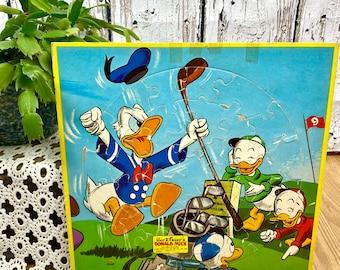 Vintage Disney Puzzle Donald Duck Mid Century