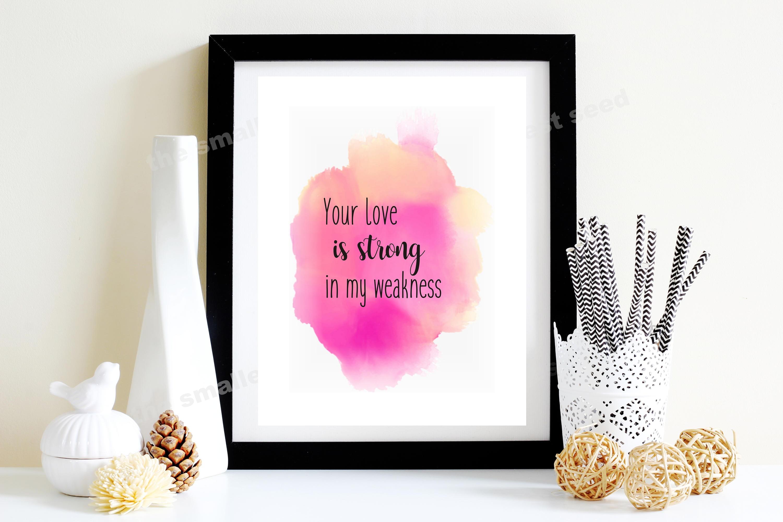 Scripture Art Printable Scripture Christian Song Lyrics   Etsy