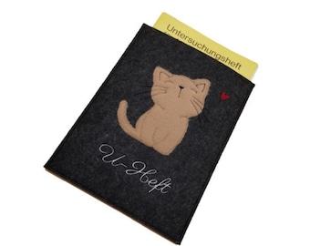 U-yeast sleeve-felt case-cat-examination booklet-personalization possible