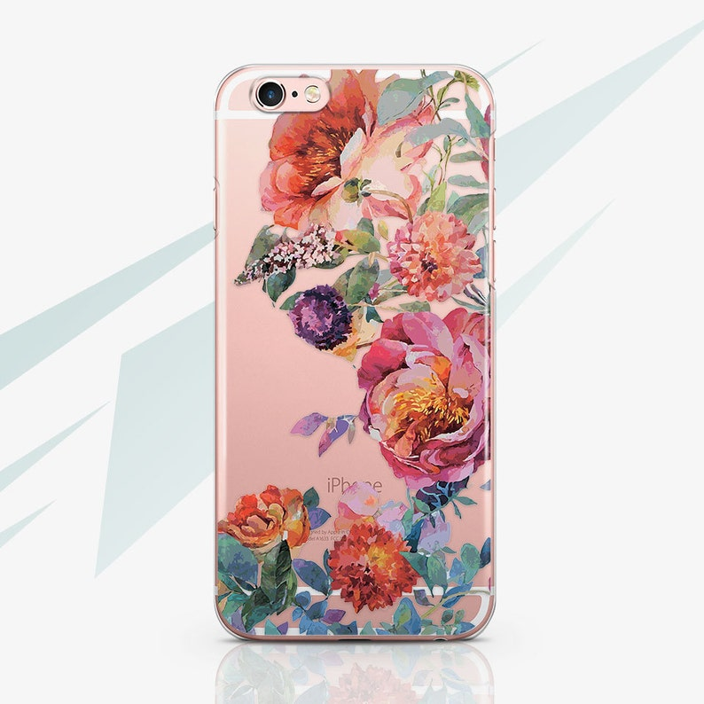 the best attitude aa49b 6971c iPhone XR Case Clear iPhone 5 Case Flower iPhone 6S Case Transparent iPhone  7 Plus Clear Case iPhone 7 Rubber Case for Samsung S6 RA1583