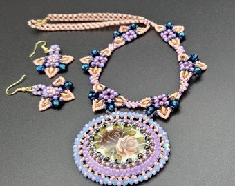 """Sparkling """"Trinity"""" Necklace & Earring Set by Judah's Jewels"""