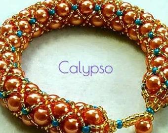 BEAUTIFUL Orange 'Calypso' Netted Rope Beaded Bracelet by Judah's Jewels