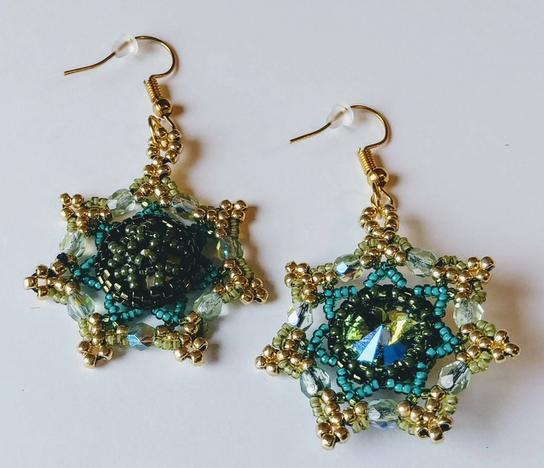 GORGEOUS 'Stardust' Beaded Crystal Dangle Earrings by image 0