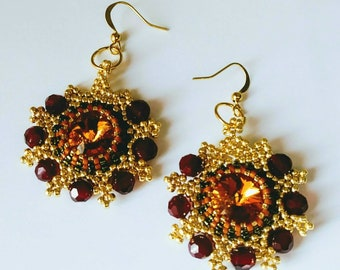 Autumn Glow Earrings by Judah's Jewels