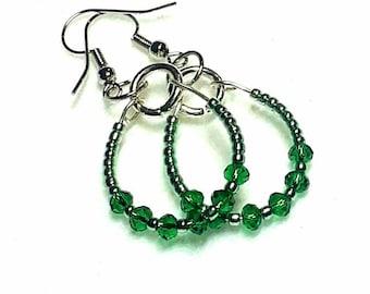 Darling Dainty Hoops Dangle Earrings by Judah's Jewels